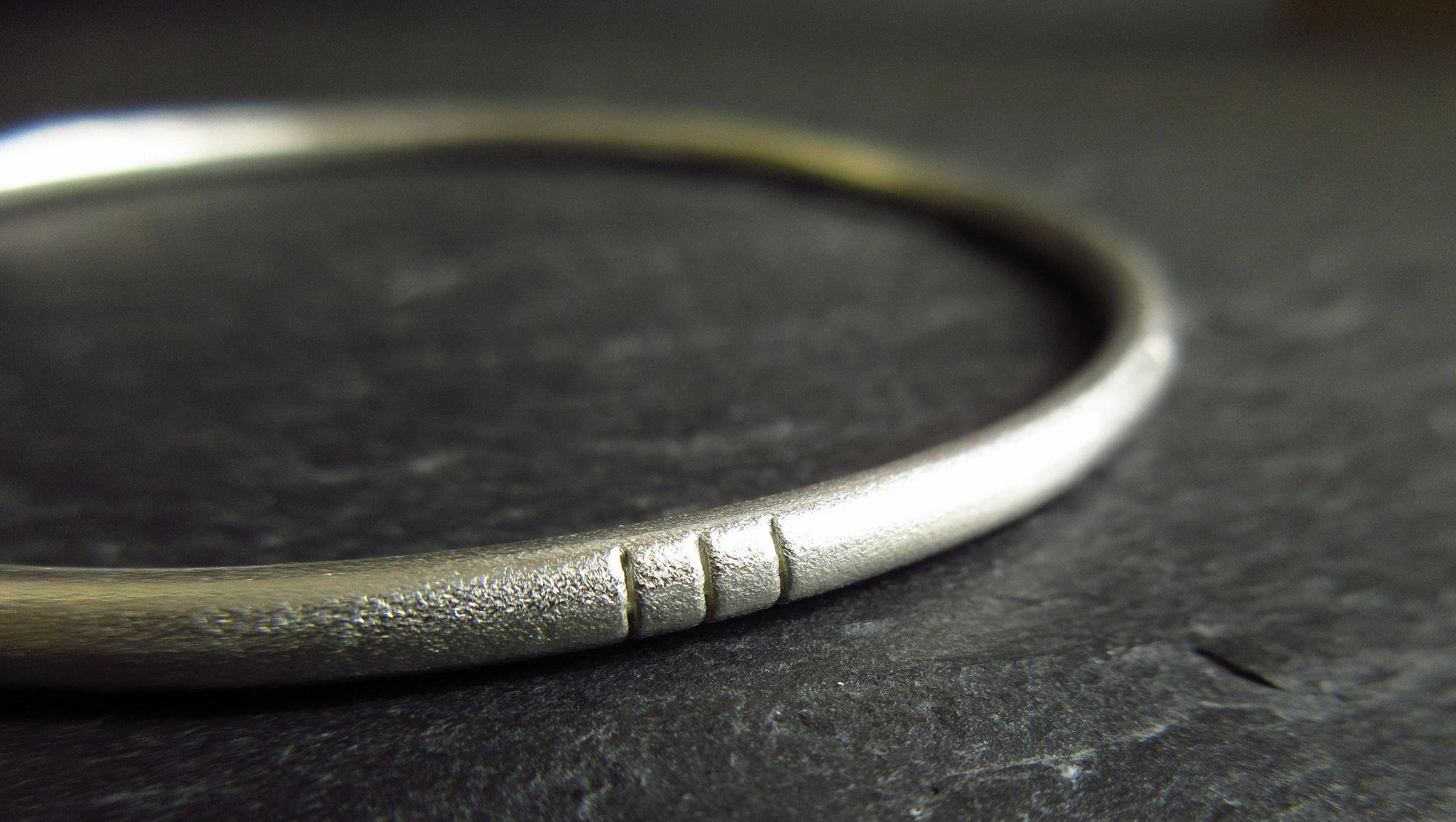 Hallmarked silver bangles