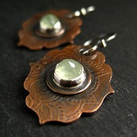 <!-- 0002 -->Copper Earrings
