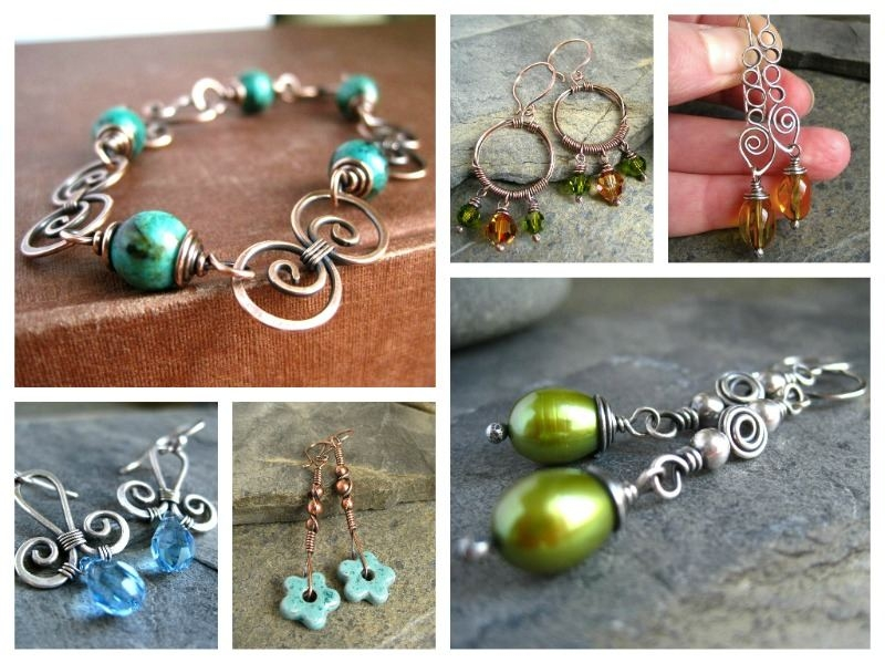 cinnamon jewellery wirework projects for Bead magazine