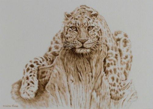 (W110A) Leopard (unframed original)