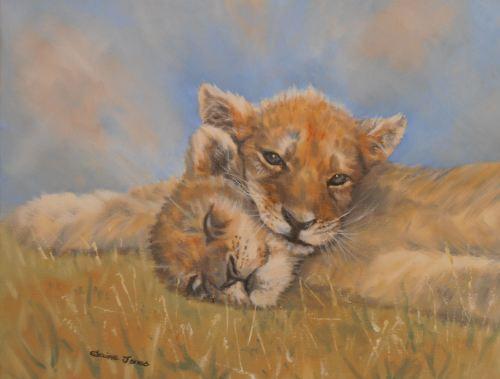 Sleepy Lion Cubs