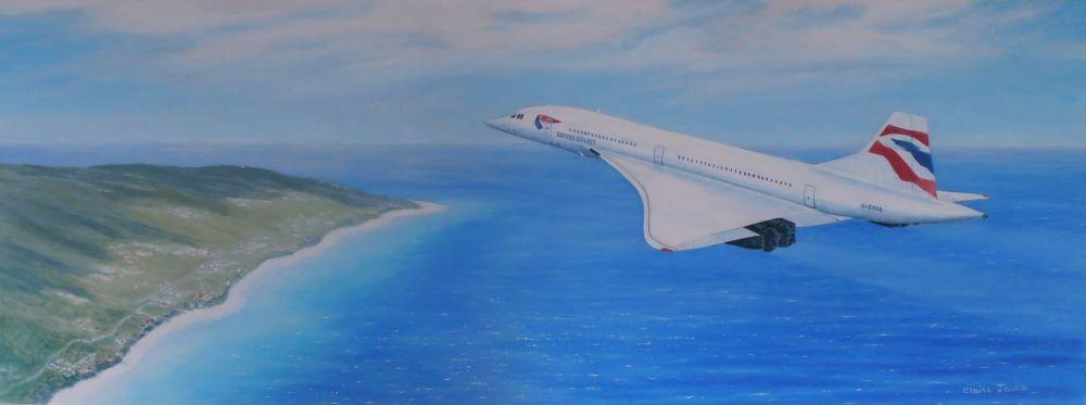 (A107C) Concorde Over Barbados  SOLD