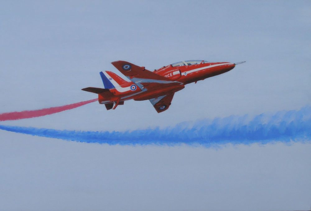 (A110B) Red Arrows - Breaking Right (Print)