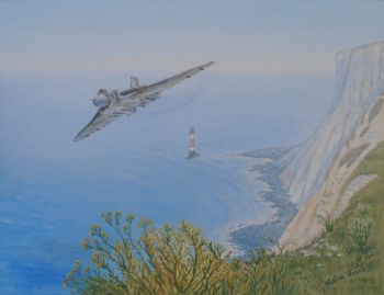 (A106C)   Vulcan XH558 Over Beachy Head  SOLD