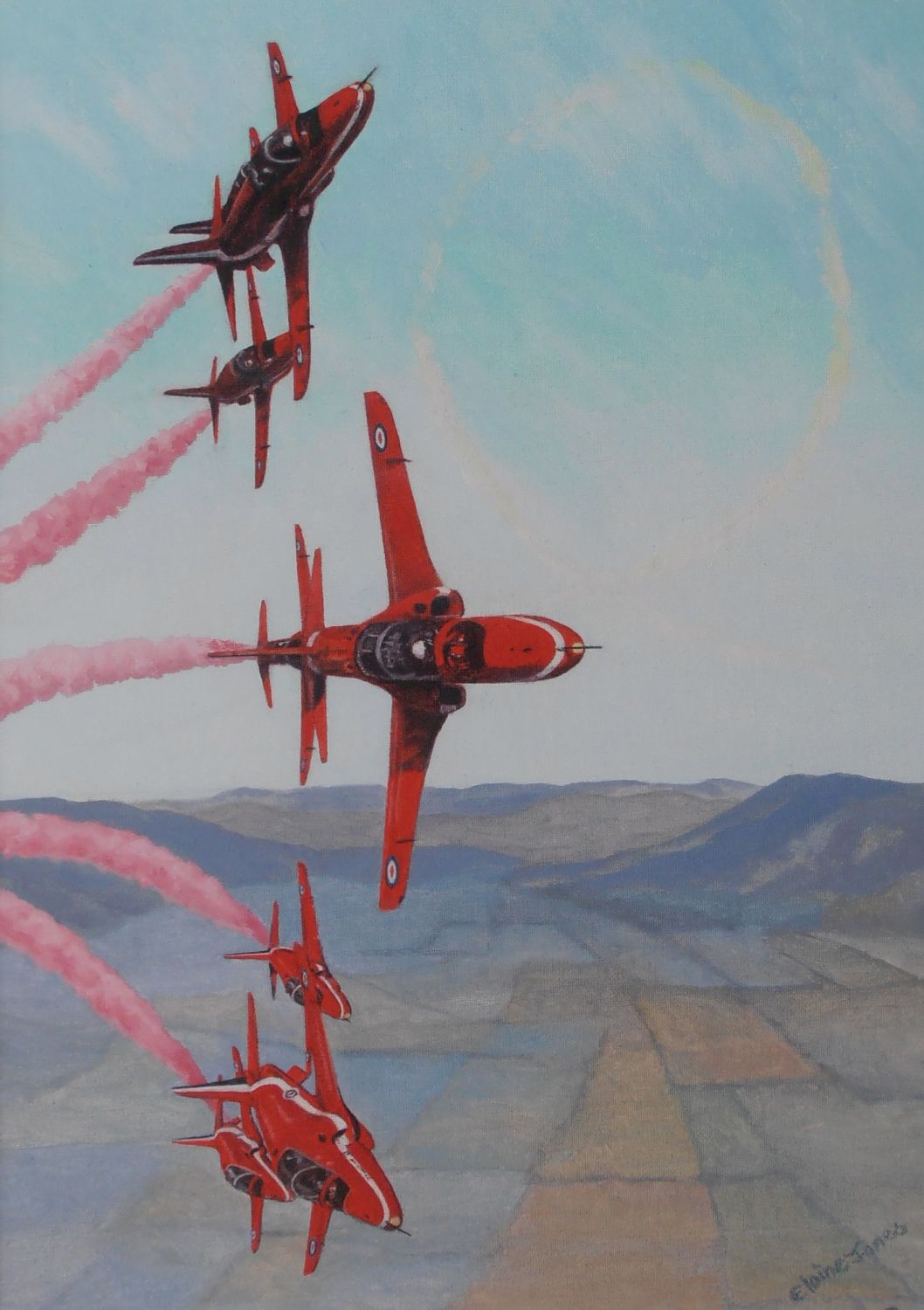 (A105B)    Red Arrows (Print)