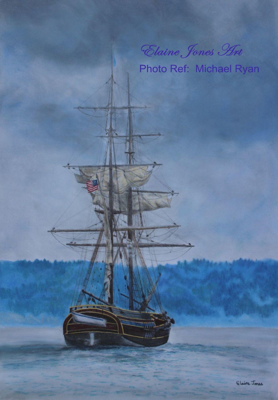 (M104) The Lady Washington Brig at Anchor