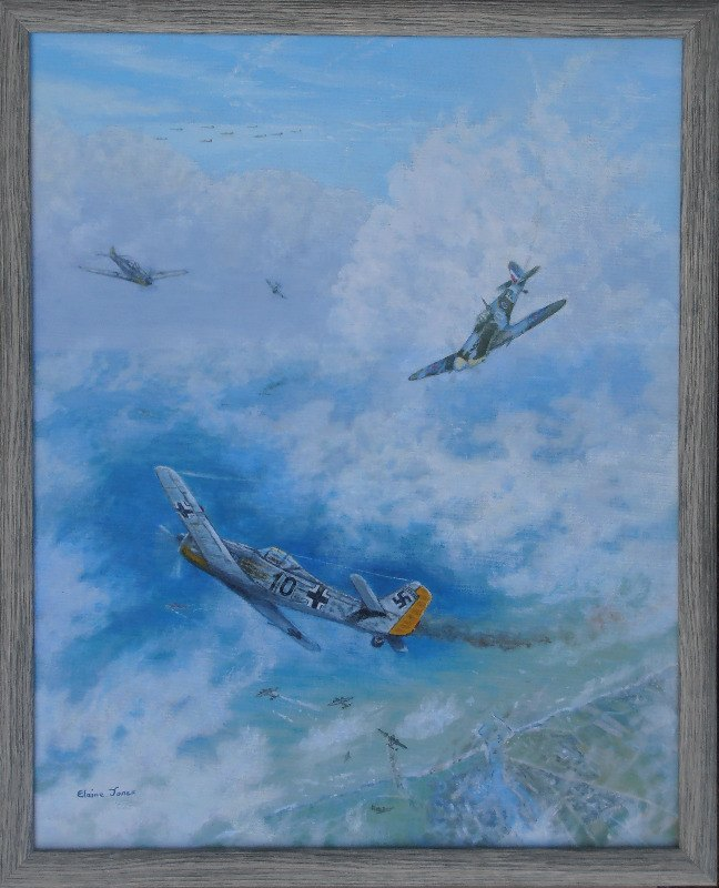 Dogfight Over Dieppe framed