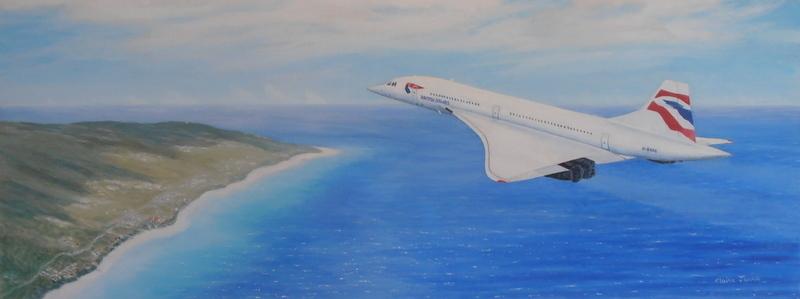 Concorde Over Barbados