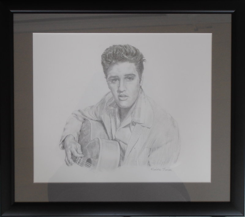 Elvis Presley framed portrait