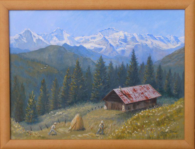 eiger monch and jungfrau framed