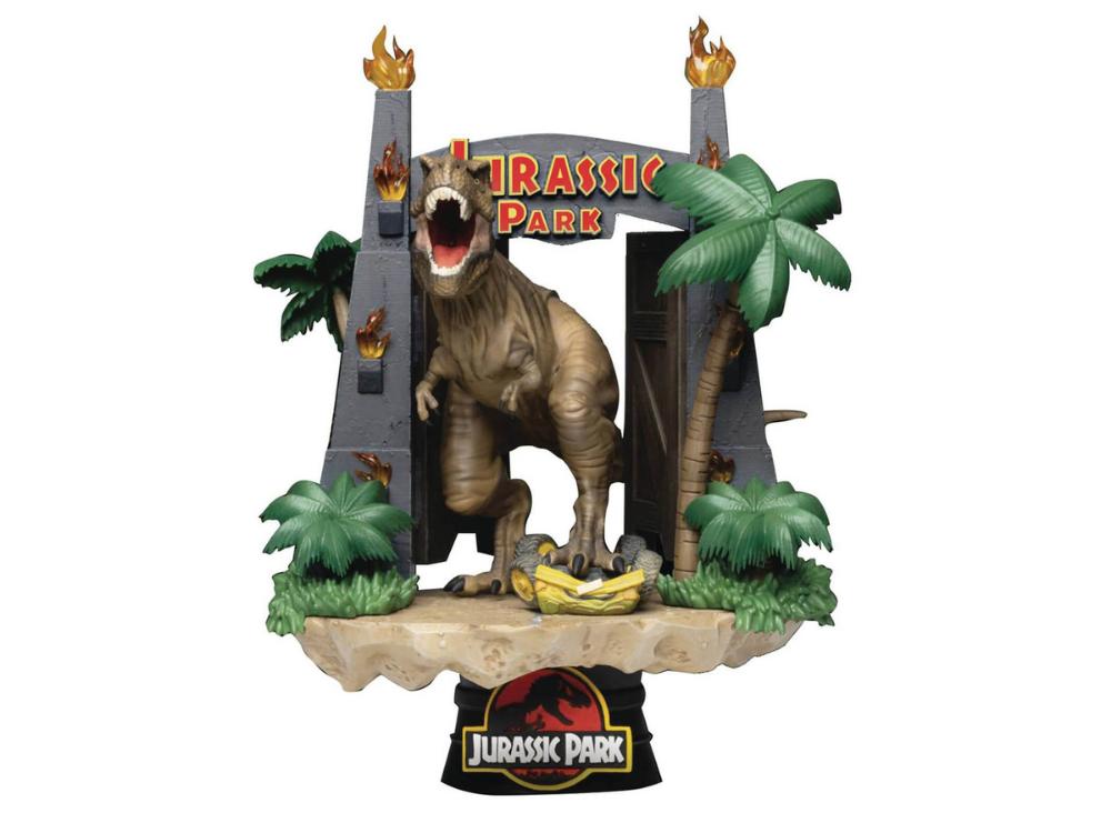 Jurassic Park PVC Park Gates Diorama