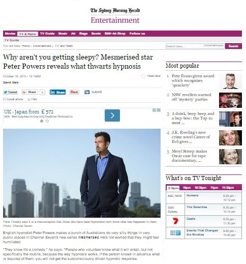 peter powers mesmerised sydney morning herald