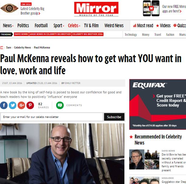 paul mckenna instant influence and charisma extracts