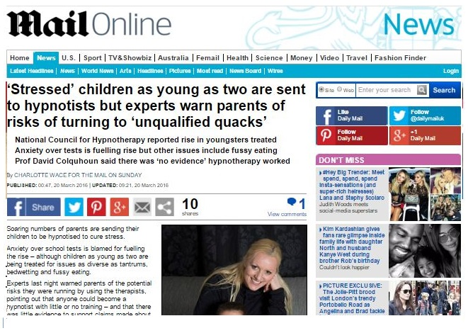mail on sunday how to chose a good hypnotherapist for your child