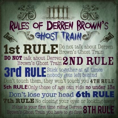 Rules of Derren Browns Ghost Train