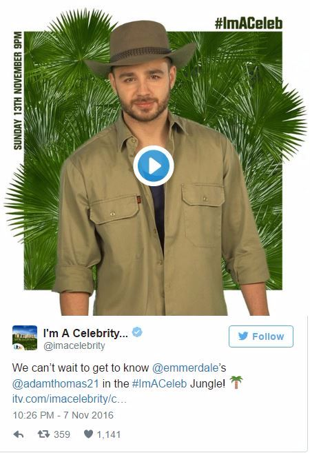 Adam Thomas Im a Celebrity Hypnosis for fear of spiders
