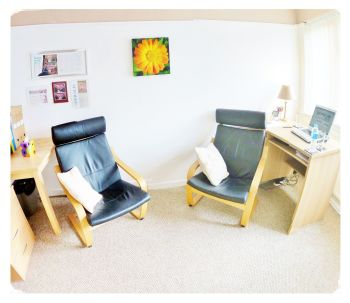 Mark Powlett Hypnotherapy treatment room