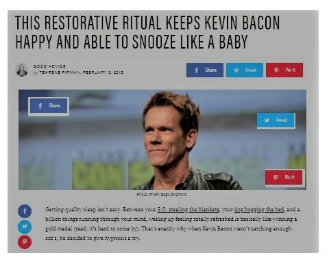 Kevin Bacon Hypnosis for insomnia
