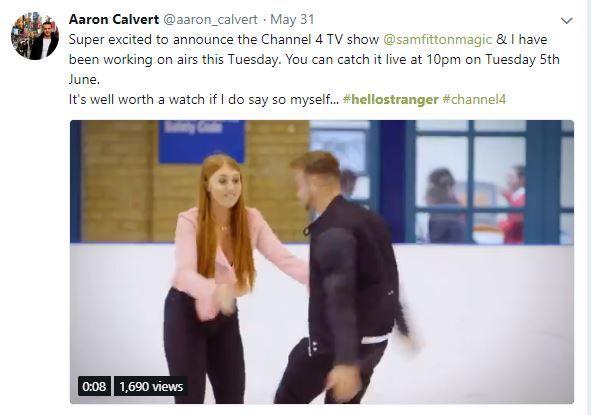 aaron calvert hypnotist tweet about hello stranger picture