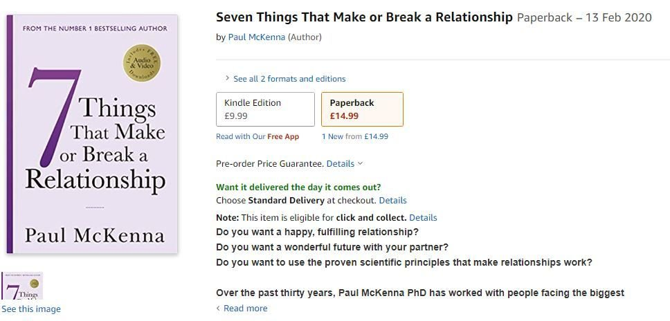 amazon Paul McKenna 7 Things that can make or break a relationship