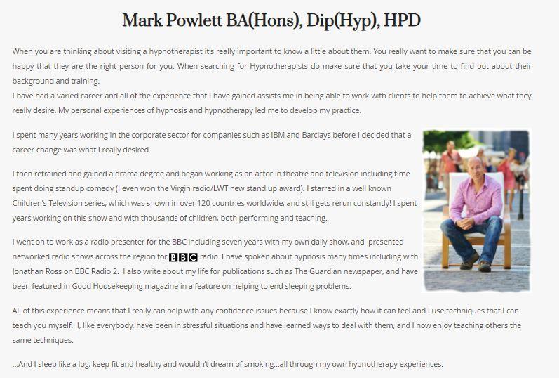 about me mark powlett