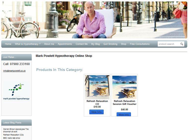 Mark Powlett hypnosis online shop