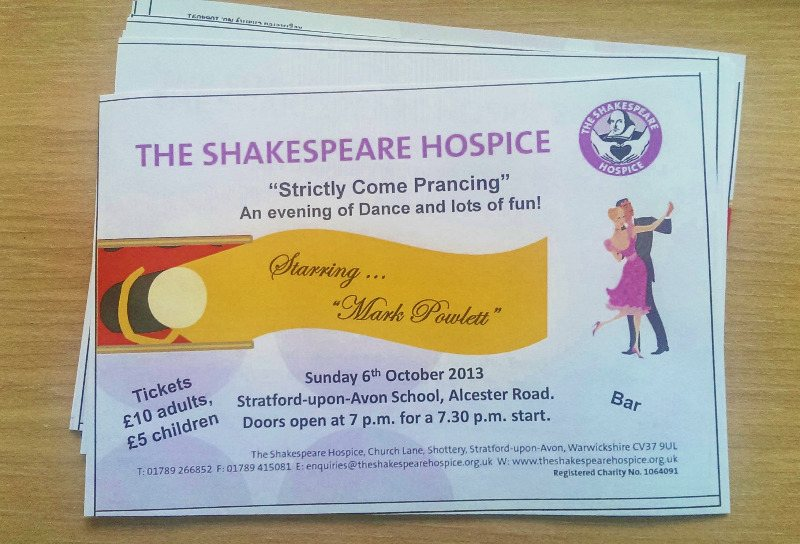 Shakespeare hospice ticket