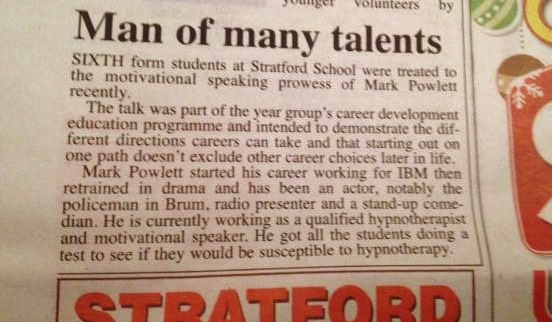 herald press cutting stratford school