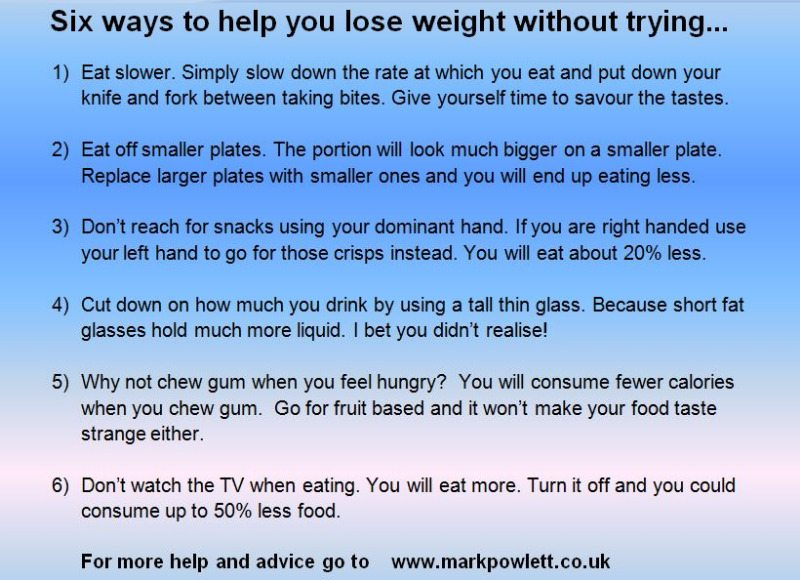 six ways to lose weight