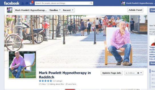 hypnosis on facebook page