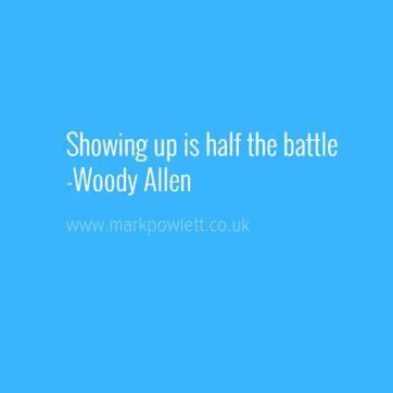 showing up is half the battle woody allen