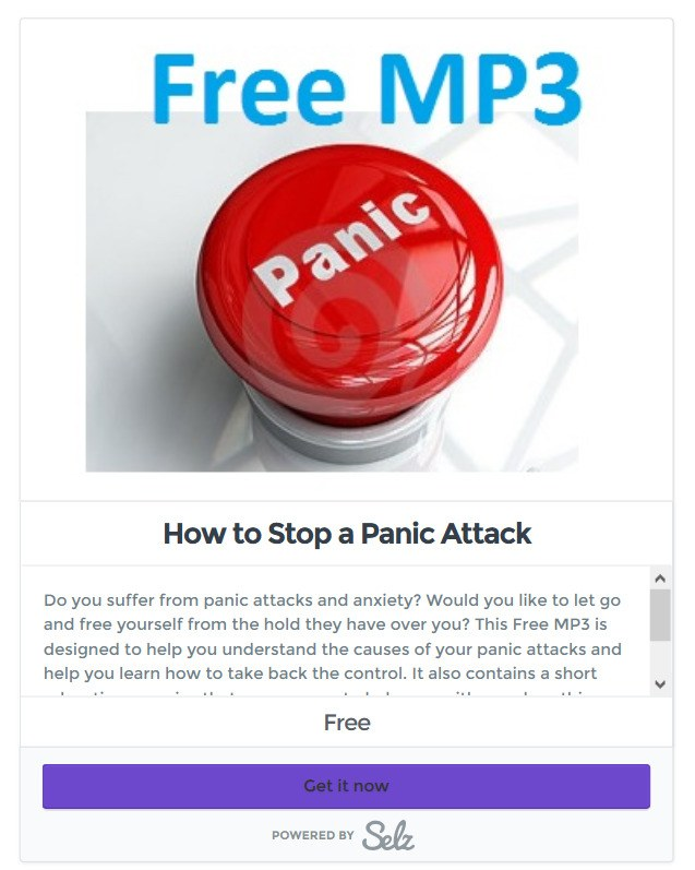 screenshot how to stop a panic attack selz poduct