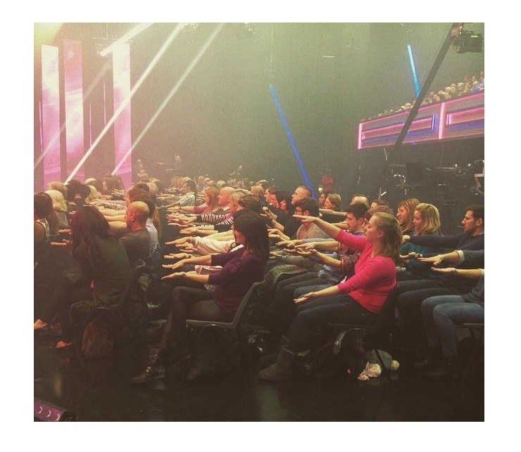 hypnotised audience on youre back in the room