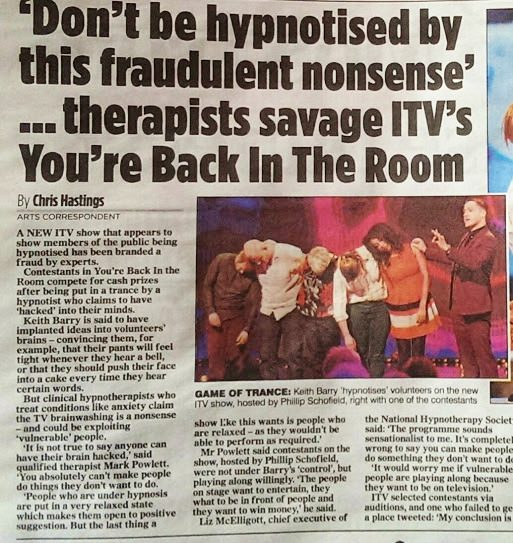 Mail on Sunday You're back in the room fraud story