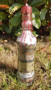 Custom Made OOAK Witches Home Protection Bottle