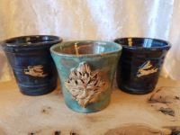 Hand Crafted Hare & Green Man Altar Pots/Chalices