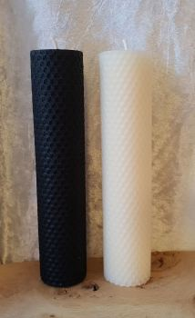 Beeswax LARGE Pillar Candles ~ Altar Candles, Working Candles, Black or White