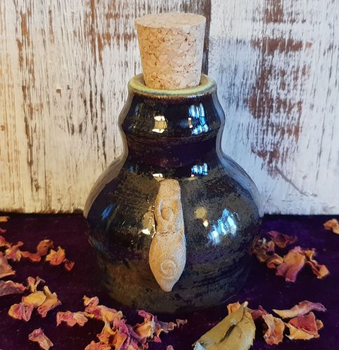 Hand Crafted Witches Potion Bottle with Ritual Oil Of Your Choice