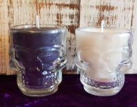 Honouring The Ancestors ~ Skull Candle Set ~ Organic/Essential Oils