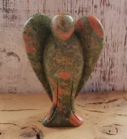 Unakite Hand Carved Angel