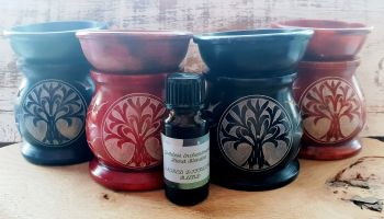 Tree Of Life Oil Burner with Essential Oil Blend