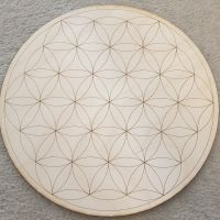 Flower Of Life Crystal Grid Board/Base with choice for custom grid