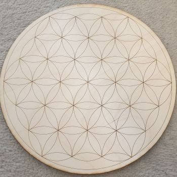 Flower Of Life Crystal Grid Board 10 inch