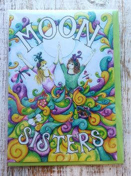 Moon Sisters Greeting Card - Art Card