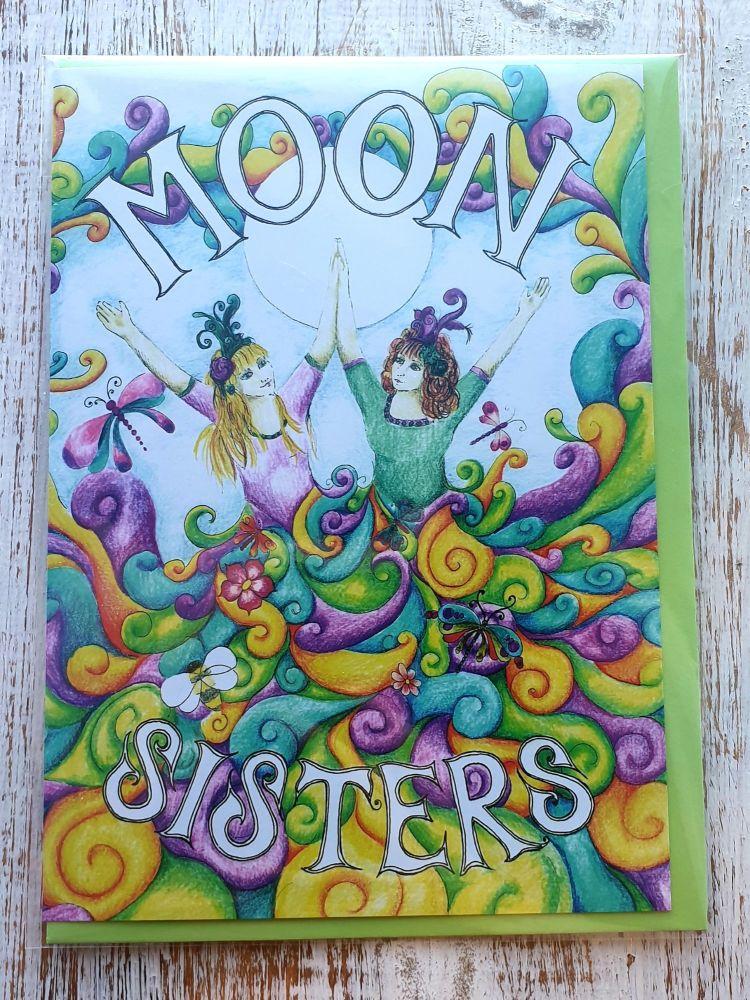 Moon Sisters Greeting Card - Art Card