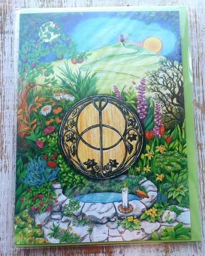 Chalice Well Greeting Card - Art Card