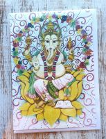 Ganesha Greeting Card - Art Card