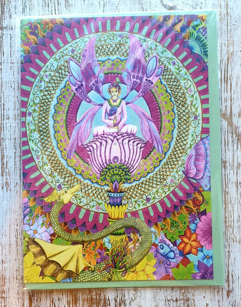 the Butterfly Keeper Greeting Card - Art Card