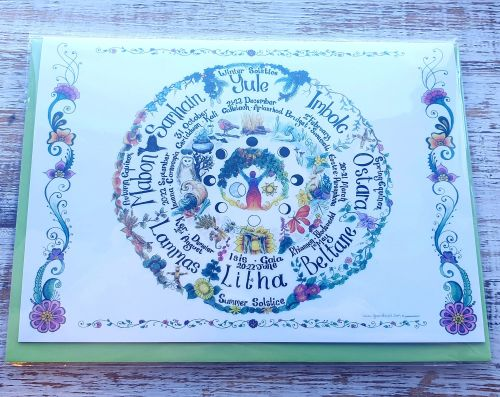 The Wheel Greeting Card - Art Card