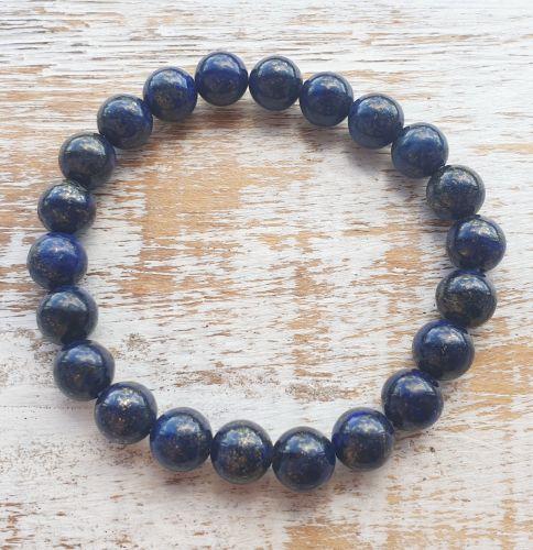 A + Lapis Lazuli Gemstone Bracelet